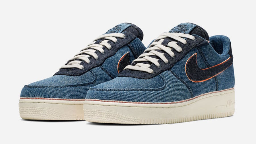 "3×1 x Nike Air Force 1 Low ""Stonewash Blue"""