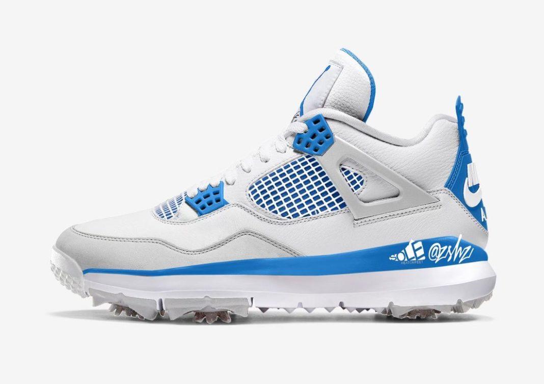 "Air Jordan 4 Golf ""Military Blue""<"