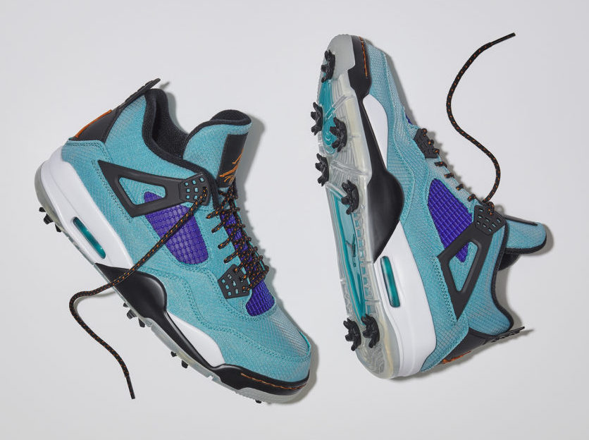 "Air Jordan 4 Golf ""Teal Purple""<"