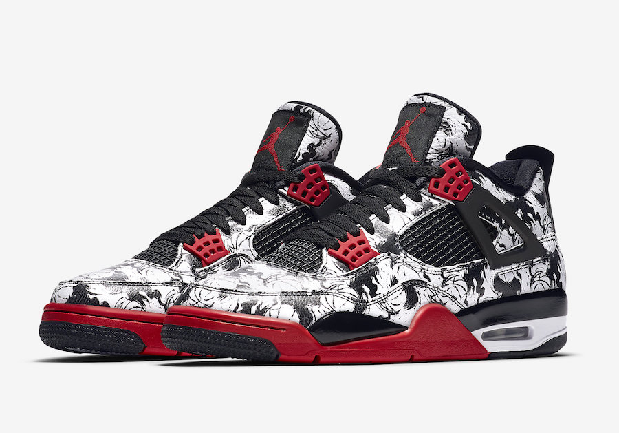 online store c7aa0 156a6 official store air jordan 4 elephant print black red custom 5cc9c 5e8c7   sale air jordan 4 tattoo 11f9b d6ea6