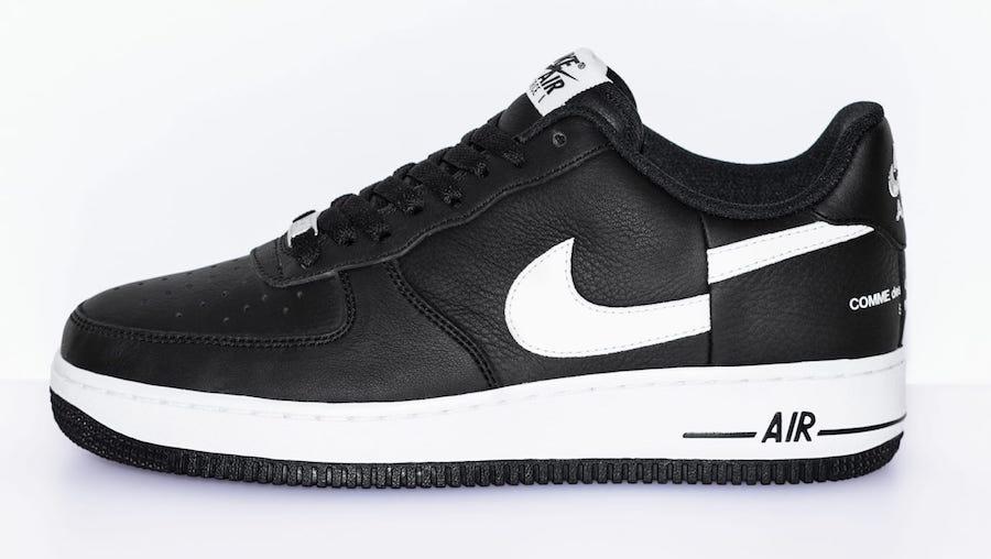 Supreme x Comme des Garçons x Nike Air Force 1 Low Release Date
