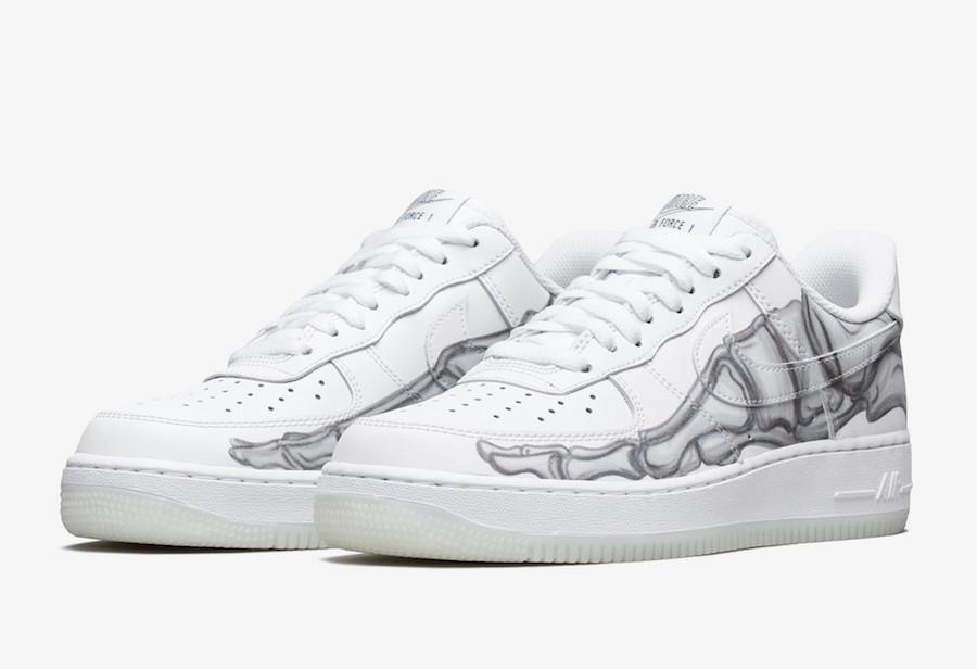 "Nike Air Force 1 Low ""Skeleton"" Release Date"