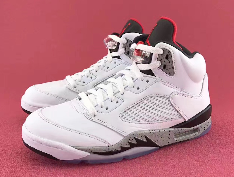 "Air Jordan 5 ""White Cement"""