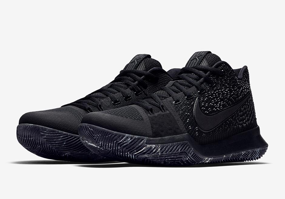 """Nike Kyrie 3 """"Triple Black"""" Release Date"""